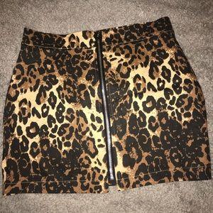 Cheetah skirt.